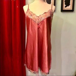 Vintage Rose Slip with Lace Trim C2